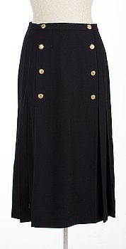 13. A Chanel wool skirt.