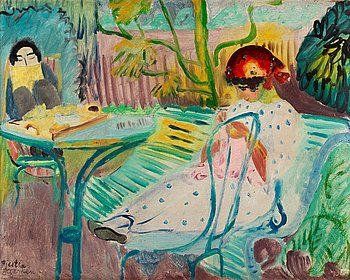 "17. Sigrid Hjertén, ""Jardin nr II"" (In the garden, Fontenay-aux-Roses)."