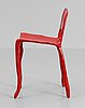 A maarten baas sculpture of a chair 'clay furniture', baas & den herder studio, holland 2007.