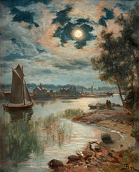 "46. JOHAN JACOB SILVÉN, ""Månsken"", Moonlight, from the western archipelago of Karlskrona."