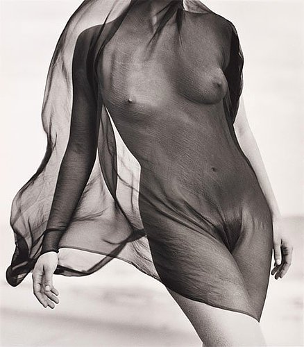 """Herb ritts, """"female torso with veil"""", paradise cove 1984."""