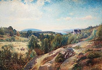 78. Alfred Wahlberg, Torreby by Gullmarsfjorden.