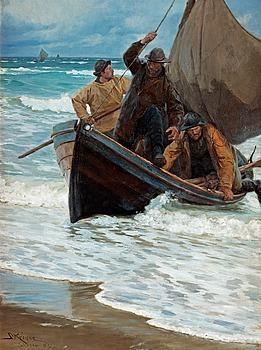 240. PEDER SEVERIN KRÖYER, Fiskerne vender hjem.
