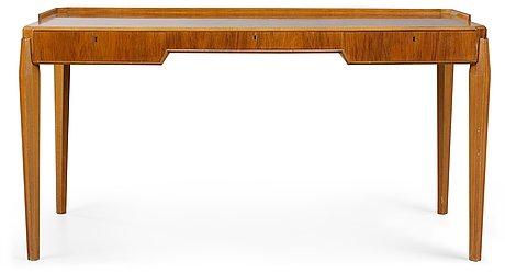 Carl-axel acking skrivbord, svenska möbelfabrikerna, bodafors, 1940-50-tal.