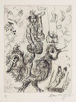 """369. Marc Chagall, """"Le clown acrobate""""."""