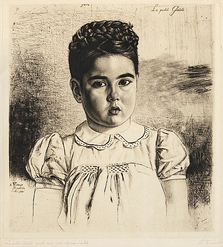 "Eduard wiiralt, ""la petite gisèle"" (väike gisèle)."