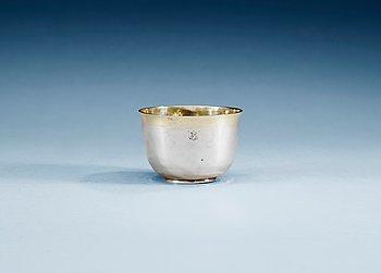 787. A SWEDISH PARCEL-GILT THUMBLER, Makers mark of Johan Hackzell, Mariefred 1764.