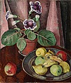 AGDA HOLST, Still life with plant and a fru...