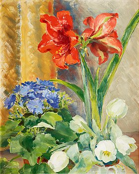 113. Isaac Grünewald, Still life with flowers.