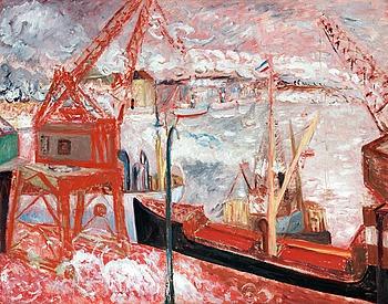"""47. SIGRID HJERTÉN, """"Lastångare  i Stadsgården""""."""