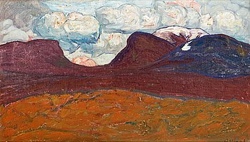 87. HELMER OSSLUND, Clouds over Lapporten.