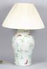 Bordslampa, porslin. 1900-tal.