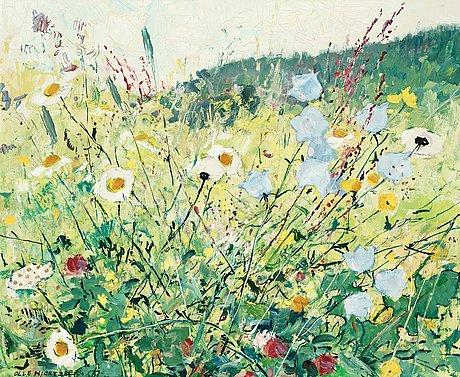 Olle hjortzberg, meadow flowers.