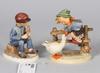 Figuriner, 2 st, porslin, hummel, goebel.