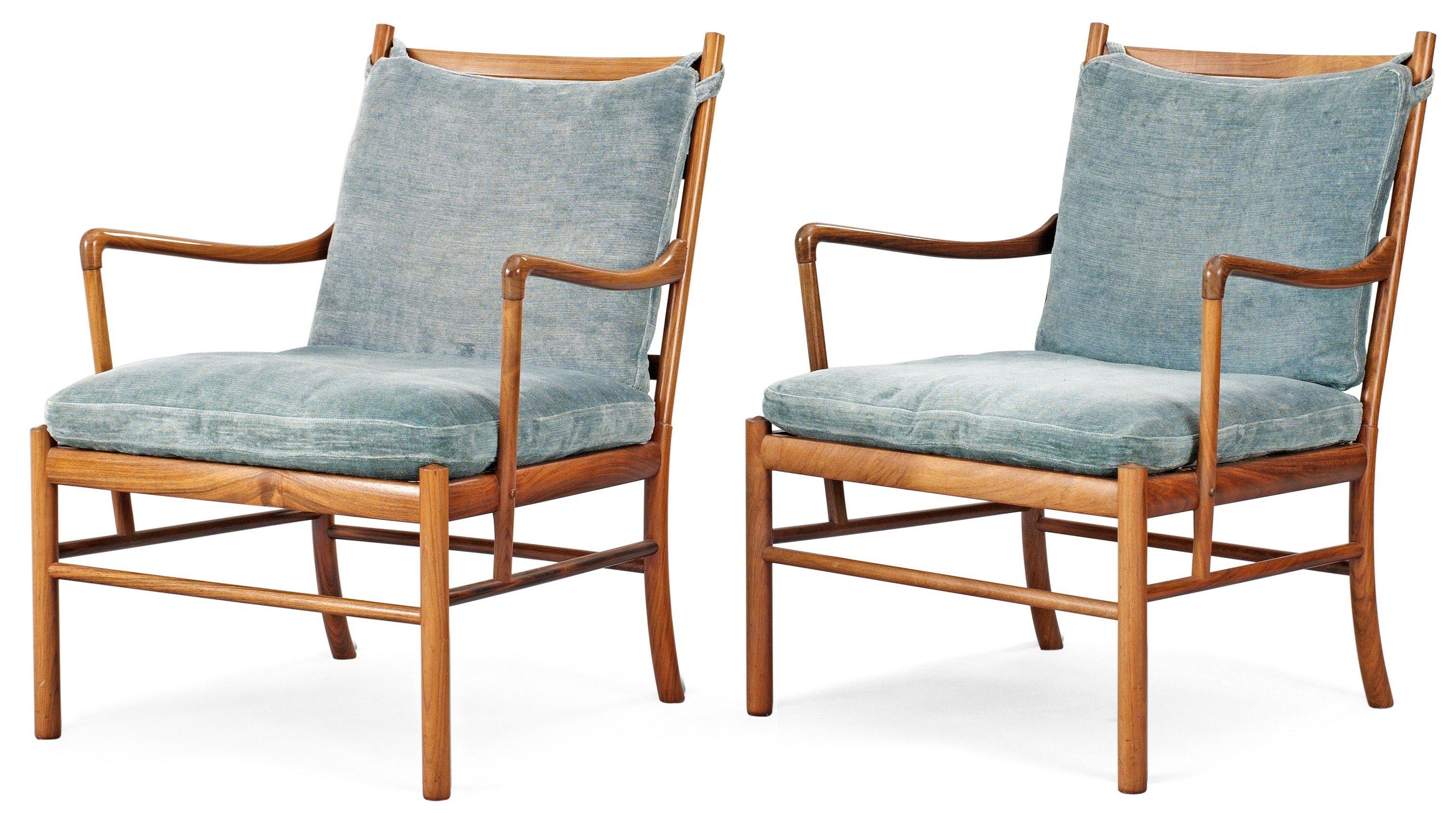 "OLE WANSCHER Karmstolar, 1 par""Colonial Chair, PJ 149"", Poul Jeppesen, Danmark Bukowskis"