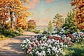JOHAN KROUTHÉN, Garden with flowers. Signed...