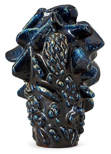 An axel salto stoneware vase, royal copenhagen, denmark 1957.