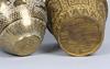 Ytterfoder, 2 st, mässing. asien,  1900-tal.
