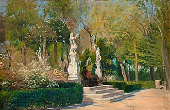 37. HUGO BIRGER, Park scene from Sevilla.