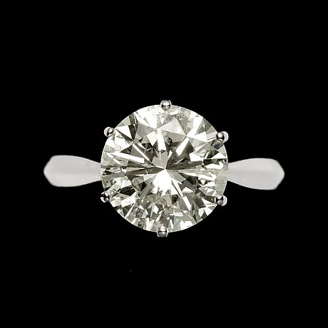 Ring, briljantslipad diamant, 5.55 ct.
