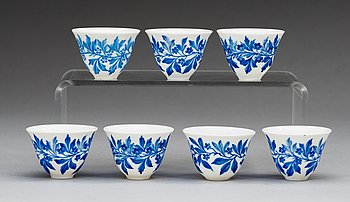 85. A set of 24 cups for turkish coffee, Imperial porcelain manufactory, period of Emperor Alexander II and Nicholas II.