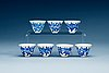 A set of 24 cups for turkish coffee, imperial porcelain manufactory, period of emperor alexander ii and nicholas ii.