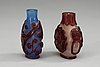 A set of two peking glass snuff bottles, qing dynasty.