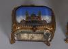 Klockfodral, 4 stycken, glas och metall. 1800/1900-tal.