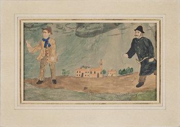 IVAR AROSENIUS, akvarellerad blyerts, intygas a tergo av Henrik Arosenius, ca 1900.