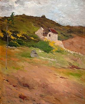 "3. GEORG PAULI, ""Franskt landskap"" (French landscape)."