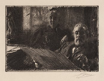 175. Anders Zorn, Mr. and Mrs. Fürstenberg.