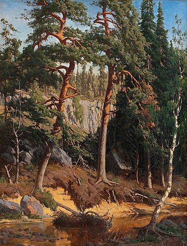 Fanny churberg, in the forest.