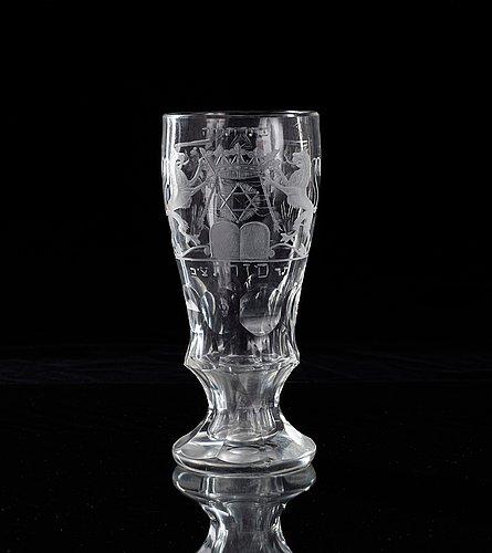 A 19th cent judaica goblet.