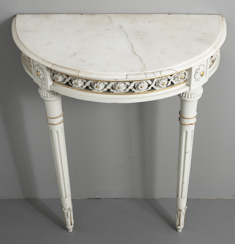 A late 18th louis xvi century console table.