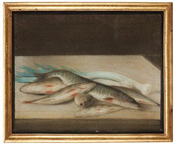 9. Unknowm artist 19th century. A pair of Still life.