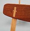 "A set of four hans j wegner ""ch-23"" oak chairs, by carl hansen & son, denmark."