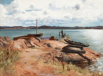 76. HUGO BIRGER, Summer day, Lysekil.