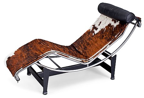 """A le corbusier """"lc 4"""" lounge chair, cassina, italy."""