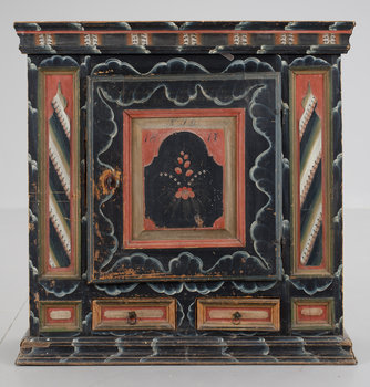 7. A Swedish wall cabinet dated KJD 1817.