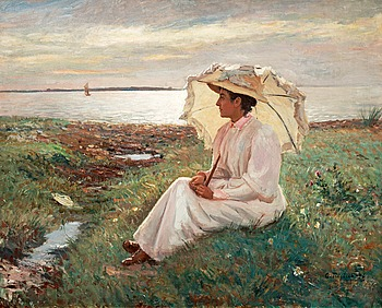 10. CARL TRÄGÅRDH, Elegant lady by the sea.