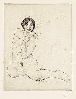 "150. Carl Larsson, ""A girl crouching""."