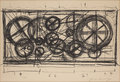 JEAN TINGUELY, Abstract composition. Lithog...