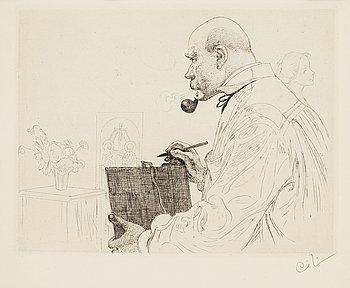 "151. Carl Larsson, ""Self portrait""."