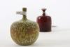 Vaser, 2 st, stengods, rolf palm, sign palm, mölle