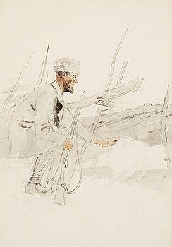 109. Bruno Liljefors, Albert Engström hunting.