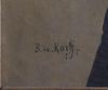 De korff, b, oljemålning på duk, sign, 1800-tal.