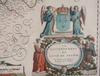 Karta, kolorerad, 1600-tal, du freftoy, frankrike med paris.