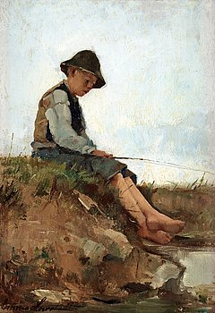 9. EMMA LÖWSTEDT-CHADWICK, Angling boy.