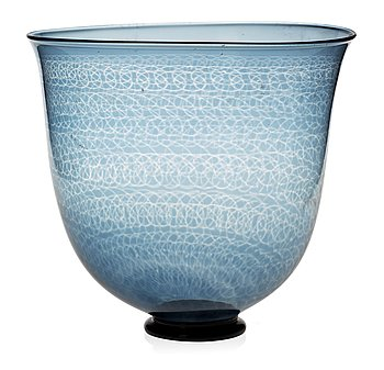 718. A Nils Landberg 'slipgraal' glass bowl, Orrefors 1963.