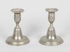 Ljusstakar, ett par, tenn, sengustaviansk stil, 1800/1900-tal.